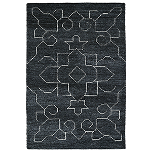 Solitaire Charcoal Rectangular: 2 Ft. x 3 Ft.