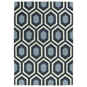 Spaces Charcoal Rectangular: 2 Ft. x 3 Ft. Rug
