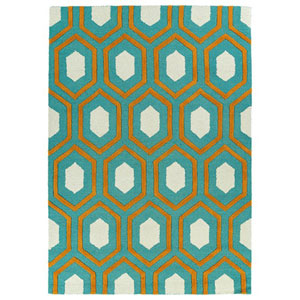 Spaces Teal Rectangular: 2 Ft. x 3 Ft. Rug