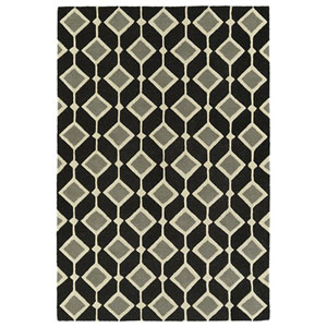 Spaces Black Rectangular: 3 Ft. x 5 Ft. Rug