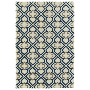Spaces Navy Rectangular: 2 Ft. x 3 Ft. Rug