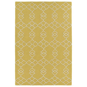 Spaces Gold Rectangular: 2 Ft. x 3 Ft. Rug