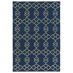 Spaces Blue Rectangular: 2 Ft. x 3 Ft. Rug
