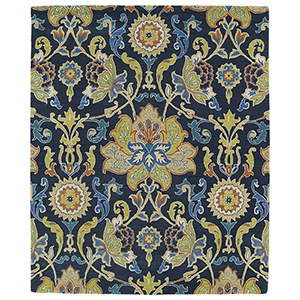 Taj Navy Hand Tufted 11Ft. 9In Square Rug