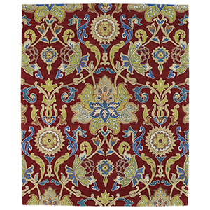 Taj Red Hand Tufted 3Ft. 9In Square Rug