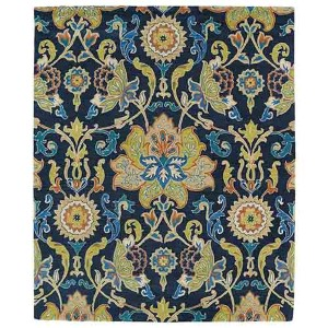 Taj Navy Blue TAJ02 Rectangular: 5 Ft. x 7 Ft. 9 In. Rug