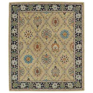 Taj Gold TAJ03 Rectangular: 5 Ft. x 7 Ft. 9 In. Rug
