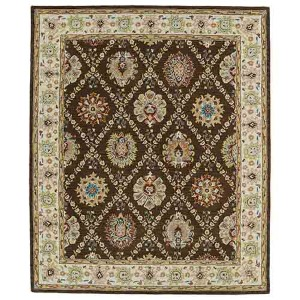 Taj Chocolate TAJ03 Rectangular: 5 Ft. x 7 Ft. 9 In. Rug