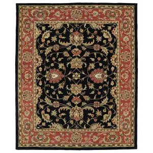 Taj Black TAJ08 Rectangular: 5 Ft. x 7 Ft. 9 In. Rug