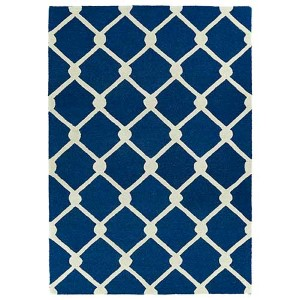Trends Navy TRN01 Rectangular: 5 Ft. x 7 Ft. Rug