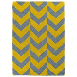Trends Yellow TRN02 Rectangular: 5 Ft. x 7 Ft. Rug
