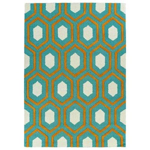 Trends Teal TRN03 Rectangular: 5 Ft. x 7 Ft. Rug