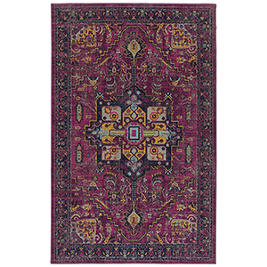 Zuma Beach Pink Machine Made 3Ft. 11In x 5Ft. 3In Rectangle Rug