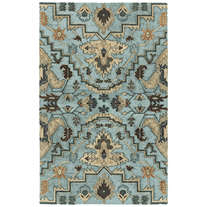 Zocalo Blue Hand-Tufted 5Ft. x 7Ft. Rectangle Rug