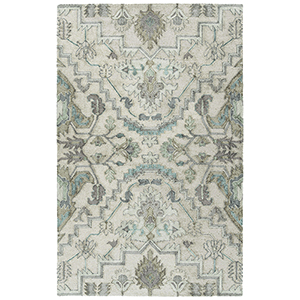 Zocalo Silver Hand-Tufted 5Ft. x 7Ft. Rectangle Rug