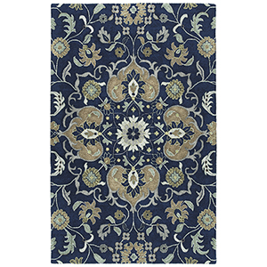 Zocalo Navy Hand-Tufted 5Ft. x 7Ft. Rectangle Rug