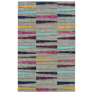 Zuma Beach Multicolor Machine Made 2Ft. x 3Ft. Rectangle Rug