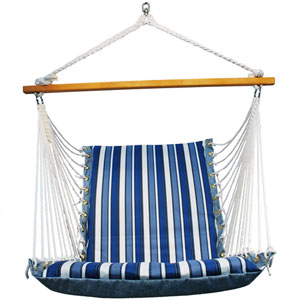 Tropical Palm Stripe Soft Comfort Cushion Hanging Chair