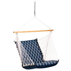 Deluxe Soft Comfort Hanging Chair - Garden Gate/Arbor Blue