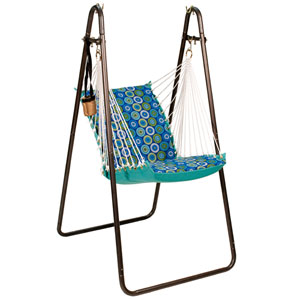 Hanging Chair with Stand Set - Jax Lagoon/Lagoon Solid