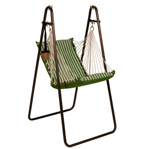 Sunbrella Hanging Chair with Stand Set - Emerald
