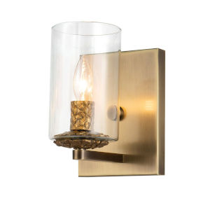 Bolivar Antique Brass One-Light Wall Sconce