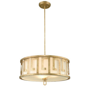 Lemuria Distressed Gold Three-Light Pendant