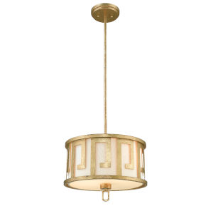 Lemuria Distressed Gold Two-Light Pendant