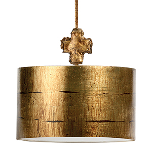Fragment Gold Leaf One-Light Pendant
