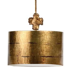 Fragment Gold Leaf One-Light Pendant