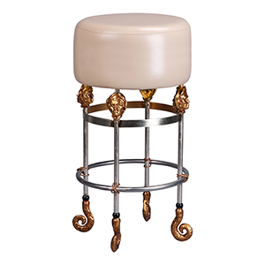 Armory Chrome and Gold 31-Inch Bar Stool