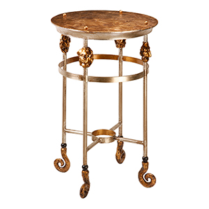 Armory Glazed Gold Leaf 29-Inch Table