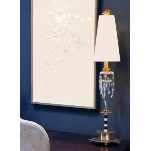 Birdland Black Putty and Gold One-Light Table Lamp