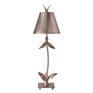 Red Bell Silver Leaf One-Light Table Lamp