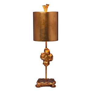 Cross Gold Leaf One-Light Table Lamp