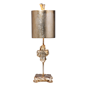 Cross Silver Leaf One-Light Table Lamp
