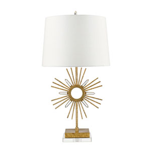 Sun King Distressed Gold Table Lamp