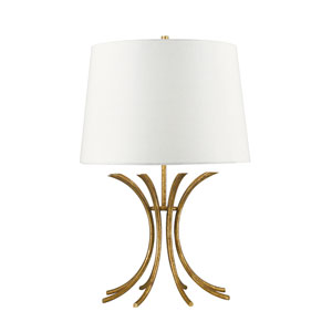 Rivers Distressed Gold Table Lamp