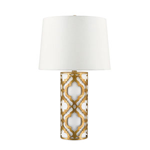 Arabella Distressed Gold Table Lamp
