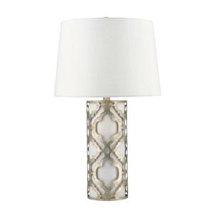 Arabella Distressed Silver Table Lamp