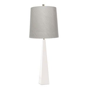 Ascent Satin White and Steel One-Light Table Lamp