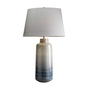 Bacari Grey and Blue Glaze One-Light Table Lamp