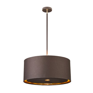 Balance Polished Brass and Brown One-Light Pendant