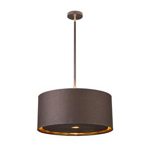 Balance Polished Brass and Brown One-Light Pendant