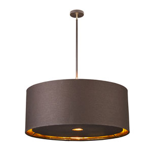 Balance Polished Brass and Brown Four-Light Pendant