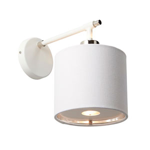 Balance Polished Nickel and White One-Light Wall Sconce