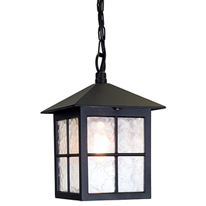 Winchester Black One-Light Outdoor Pendant