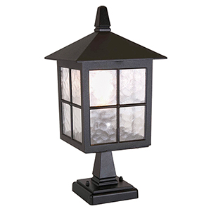 Winchester Black One-Light Outdoor Pedestal Lantern