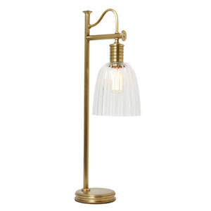 Douille Aged Brass LED Table Lamp with Glass Shade