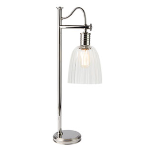 Douille Polished Nickel LED Table Lamp